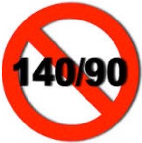 ¿Cuál es la presión arterial de 140/90